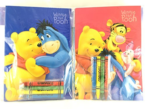 Party Favors Winnie-the-Pooh Coloring Book & Crayon Set 12 Pack ( Assorted Style)]()