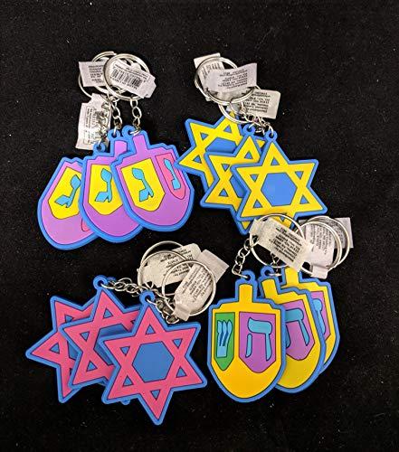 - 12 Jew Hanukkah Keychains Festival of Lights Feast of Dedication Jewish Holiday