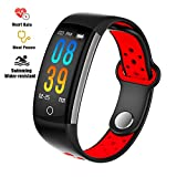 Fitness Tracker Watch, Upgraded IP68 Swim Water-resistant HD Color...