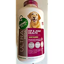 240 Tabs GNC Ultra Mega Hip & Joint Health New and improved Senior Dog Chewable