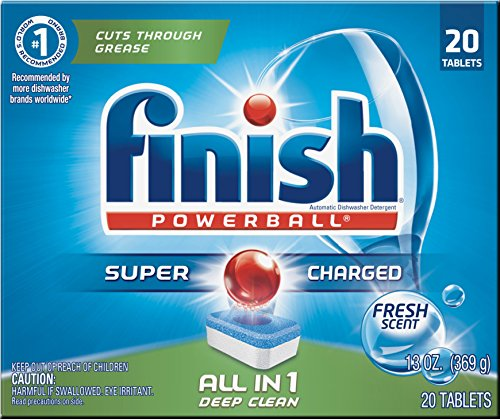 Finish All In 1 Powerball, Fresh 20 Tabs, Dishwasher Detergent Tablets (Pack of 8) by Reckitt & Benckiser