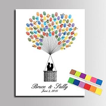 Diy Hochzeit Gästebuch Fingerabdruck Signature Leinwand Sweet Lovers