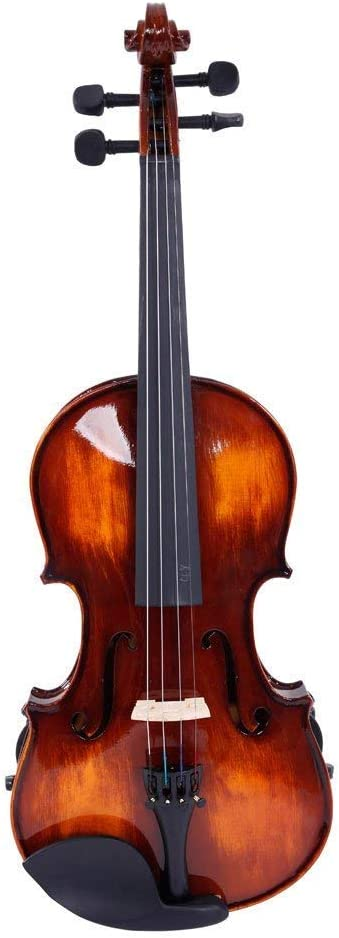 Full size Classic Solid Wood Violin Set Strings Rosin Shoulder Rest Tuner Gift