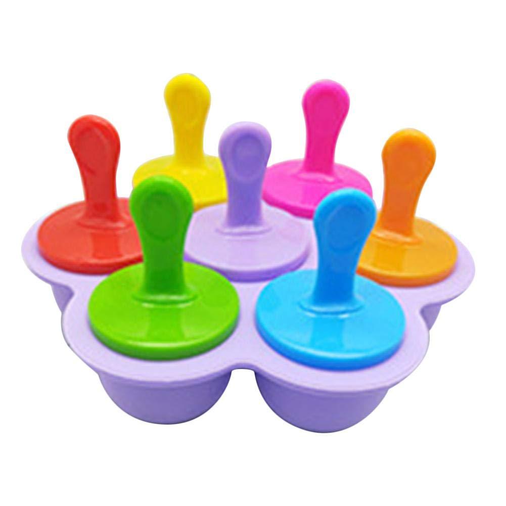 Stampi per Popsicle Fai da Te in Silicone a 7 Fori Stampo per Gelato a 7 Colori stampi per Ghiaccio riutilizzabili griglia del Ghiaccio creatore di ghiaccioli per budino di cubetti di Ghiaccio