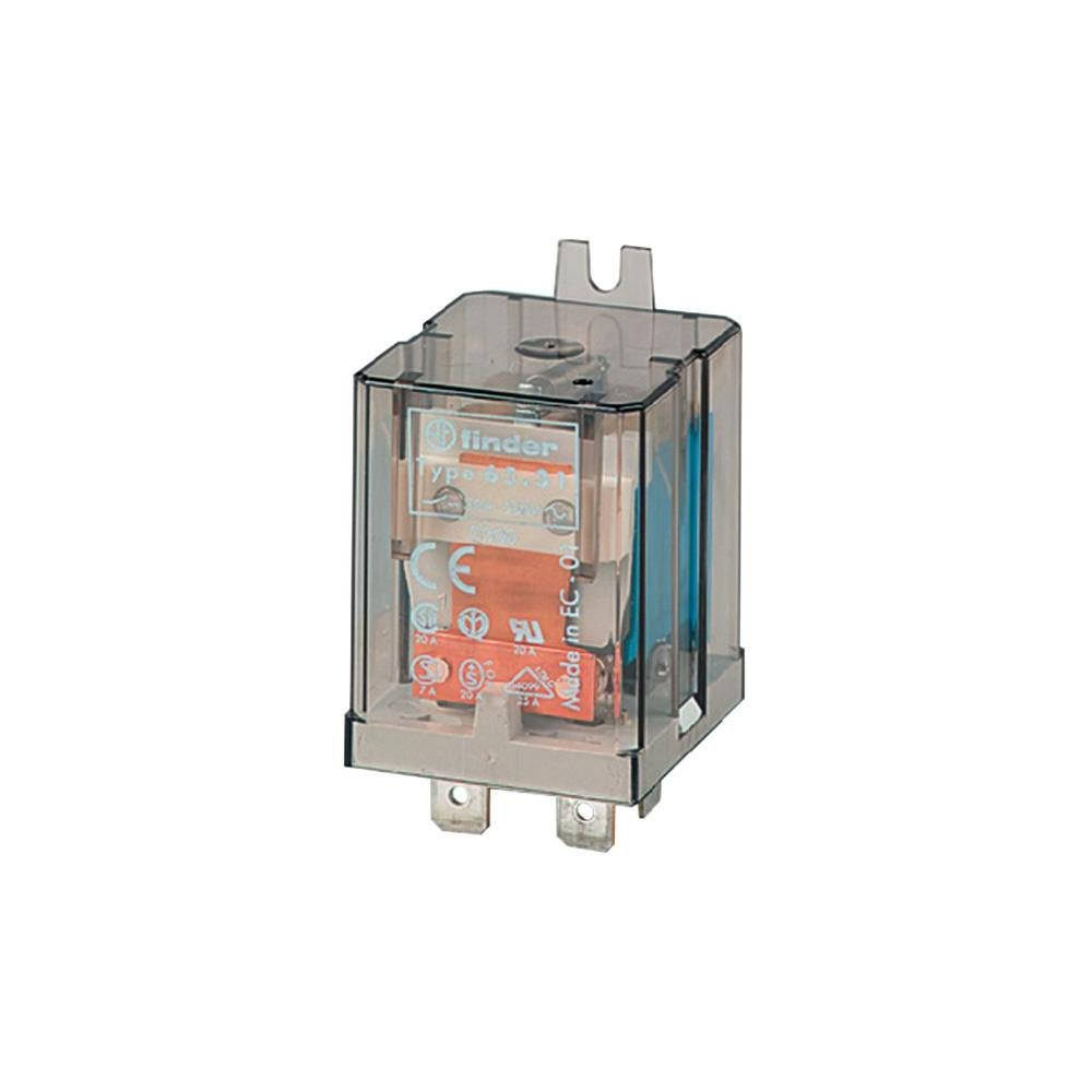 24V dc Coil 20 A Finder SPDT Non-Latching Relay Flange Mount