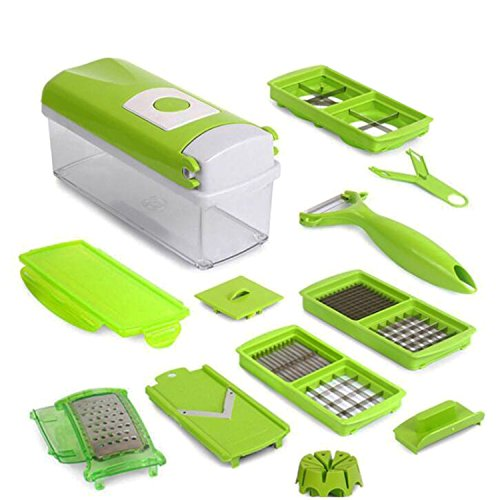 Stainless Steel Food Processing Products GoFriend® Multi-functional 12 in 1 Vegetable Slicer, Fruit ...