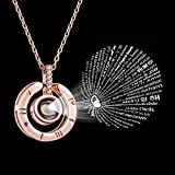 Bowisheet I Love You Necklace 100 Languages Love Memory Necklace for Women Girl