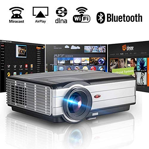 (Wireless Bluetooth WiFi HDMI Projector 3500 Lumens 1080P Smart Multimedia Home Theater Cinema 2019 Android 6.0 LCD LED Video Projector Outdoor Proyector for TV Stick PC Laptop USB Driver PS4 Wii Xbox)