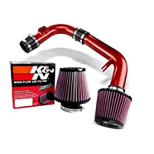 K&N Air Filter + Spyder Cold Air Intake (Red) - 11- 15 Chevy Cruze Non-Turbo 1.8L 4cyl (Exc. models with secondary air pump) SPYDER-536-R/RU-4450