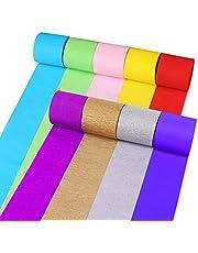 STOBOK 18 rollos de papel crepé papel decorativo diy telón de fondo papel streamer para suministros de fiesta (color variado)