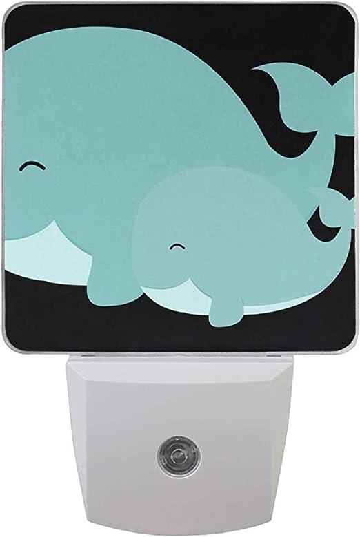 Katrine Store Night Light Mom and Baby Whale Auto Senor Dusk to Dawn Lámpara de luz LED para Pasillo, Cocina, baño, Dormitorio, escaleras: Amazon.es: Hogar