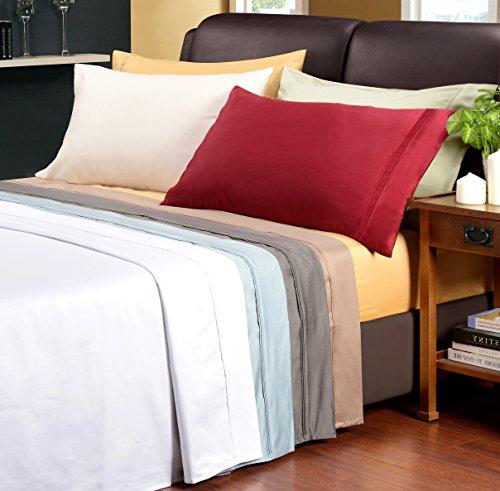 Superior Egyptian Cotton 1200 Thread Count King Pillowcase Set Solid, Sage
