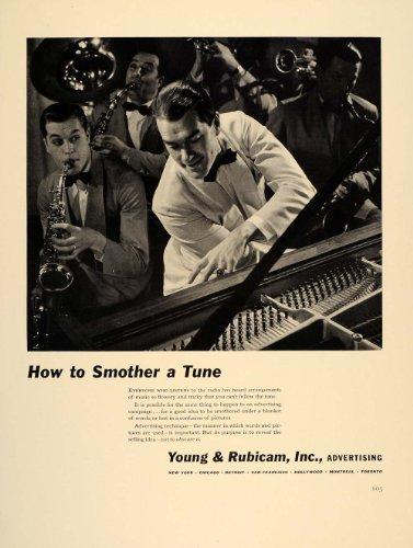 1941 Ad Young & Rubicam Advertising Band Sax Piano Tune - Original Print Ad (Tunes Sax)