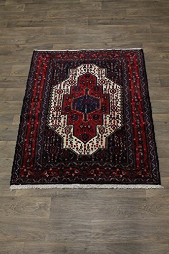 Bidjar Persian Oriental Area Rug (Beautiful Small Size Unique Handmade Bidjar Persian Style Rug Oriental Area Carpet 4X5)