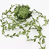 Lautechco® 20m Artificial Green Flower Leaves Rattan DIY Garland Accessory For Home Decoration