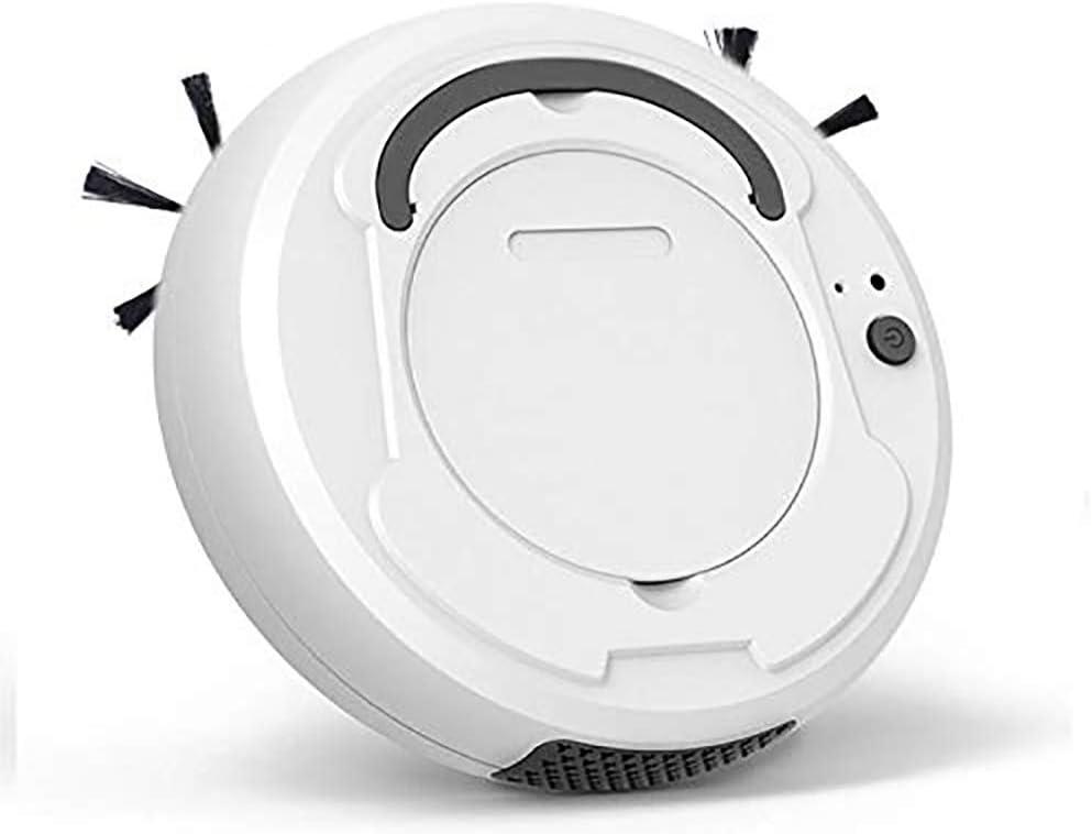 Robot aspirador, barredora inteligente automática silenciosa 1200PA Robot 3 en 1 USB Barredora robótica automática inteligente Lo mejor para pelos de mascotas, piso duro y alfombra mediana,Blanco: Amazon.es: Deportes y aire libre