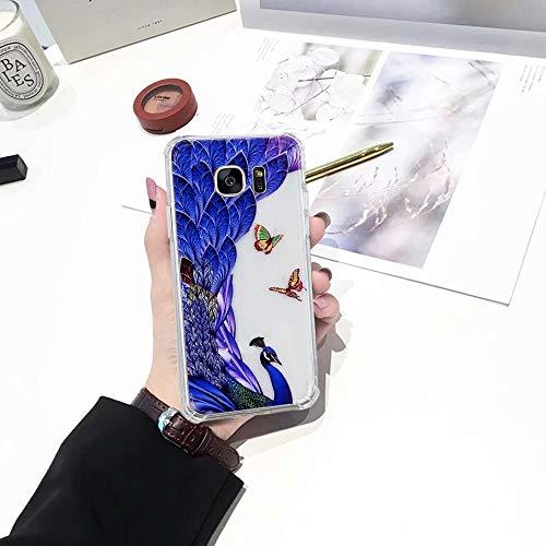 S7 Galaxy Sandía Suave Funda para del Fundas pavo real Color Samsung S7 Galaxy Protector Pintura del QianYang Caramelo Carcasa TPU qdSqf5C