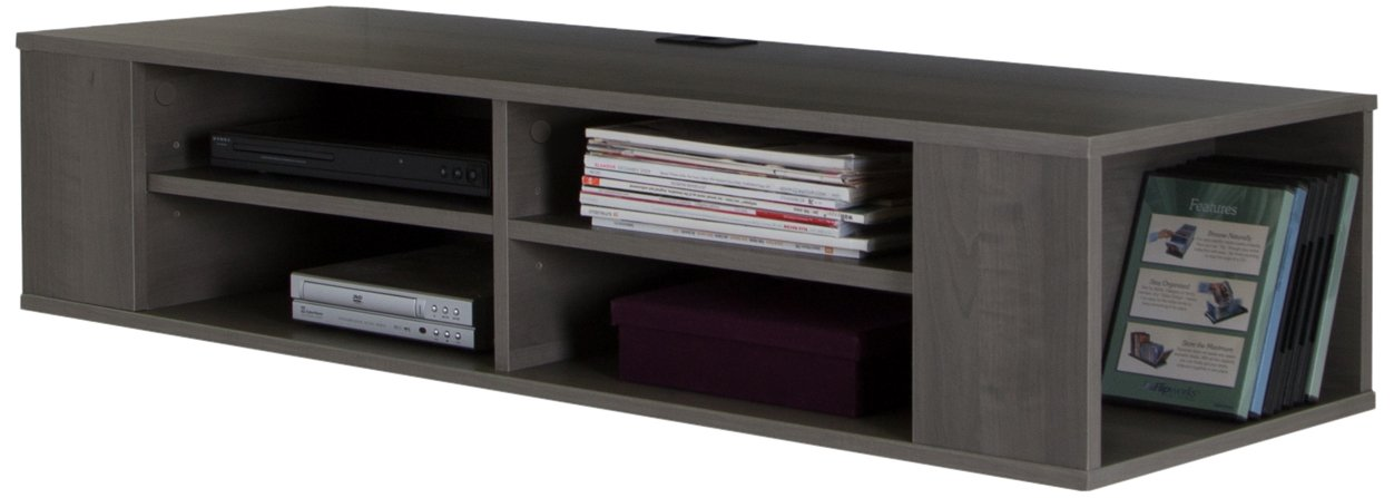 South Shore City Life 48'' Wide Wall Mounted Media Console, Gray Maple