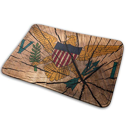 EWFXZq Flag United States Virgin Islands Doormat Anti-Slip House Garden Gate Carpet Door Mat Floor Pads 15.7