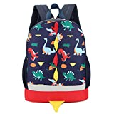 Cute School Backpack,VENMO Cartoon Dinosaur Toddler Kids School Book Bags Children Small Backpack Daysack For Girls Boys, 25*30cm (Navy)