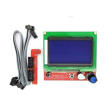 Amazon.com: Impresora 3D - 12864 Pantalla LCD 3D Controlador ...