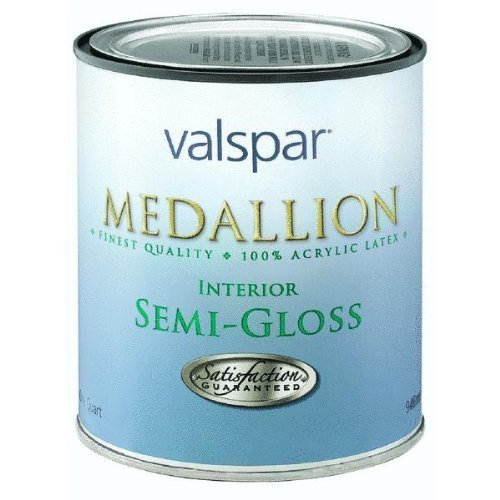 Valspar 27-2400 QT 1 quart White Medallion 100% Acrylic Interior Paint Semi Gloss