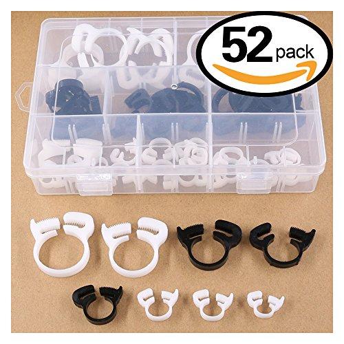 Plastic Hose Clamp (Hilitchi 52-Pcs Heavy Duty Speedy Double Snap Grip Plastic Nylon Ratcheting Hose Clamps Assortment Kit)