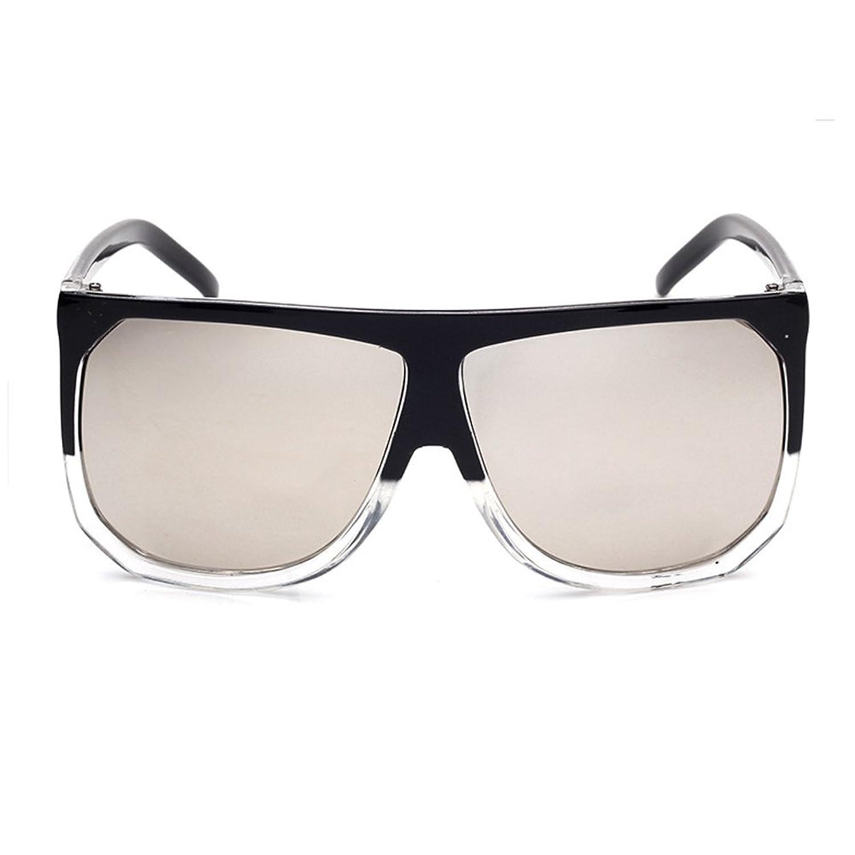 Amomoma Women's Fashion Flat Top Super Future Sunglasses Oversized Big Shield AM2005