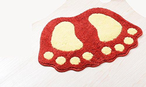et Pattern Anti-slip Microfiber Doormat Solid Non-Slip Area Rug Carpet Floor mat Soft Entry Mat for Home Bedroom Red 16