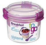 yogurt to go cup - Sistema To Go Collection Breakfast Bowl Food Storage Container, 17.9 oz./0.5 L, Clear/Pink