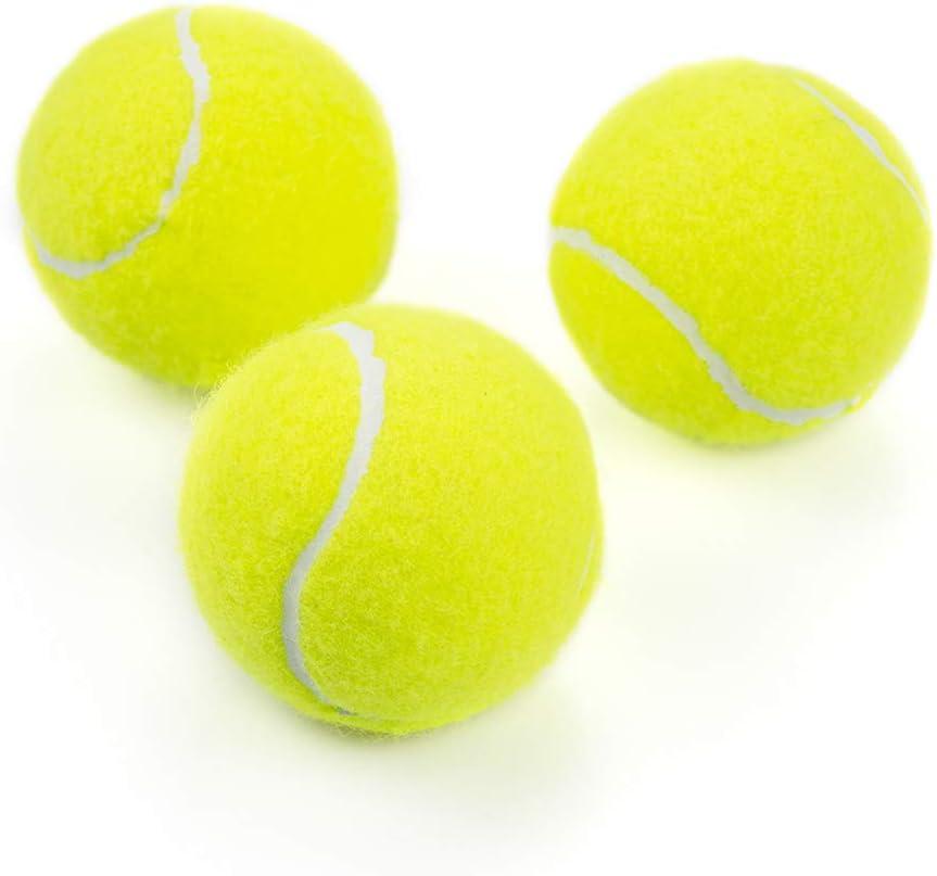 Tebery Lot de 20 balles de Tennis avec Sac de Transport en Maille Vert