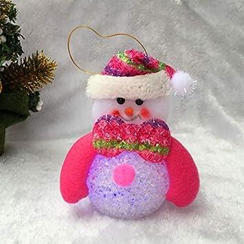 Crystal Snowman Christmas Santa Christmas Tree Decorations Christmas LED Light
