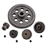 AMOGOT RC Steel Metal Spur Diff Differential Main Gear 64T 17T 21T 26T 29T Motor Gear for HSP 1/10 Monster Truck Brontosaurus Redcat Volcano EPX RC Replacement Parts