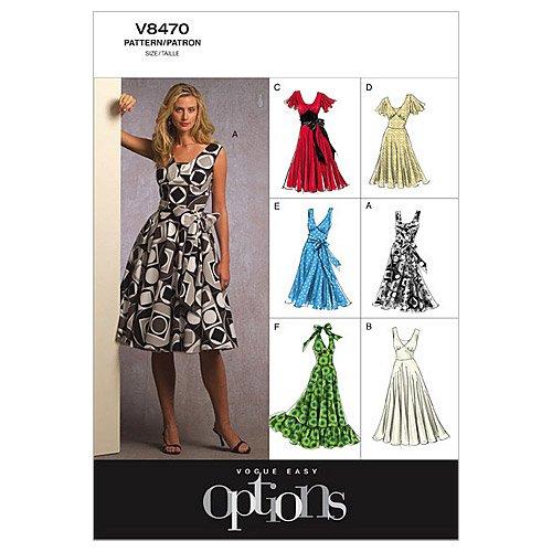Vogue Patterns V8470 Misses' Dress, Size B5 (Madras Tissue)