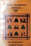 img - for Betty Alderman Quilt Pattern Design - Sunbonnet Christmas 43 1/2
