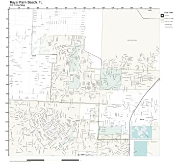 Amazon.com: ZIP Code Wall Map of Royal Palm Beach, FL ZIP Code Map on