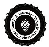: Beer Is A Journey- Beer Bottle Crown Caps- Oxygen Absorbing for Homebrew- 144 Count