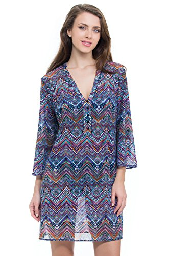 Profile by Gottex Women's Marimba Tunic Swim Cover Up Multi L