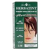 hair color chestnut - Herbatint Permanent Herbal Haircolor Gel, 5M Light Mahogany Chestnut, 4.56 Ounce