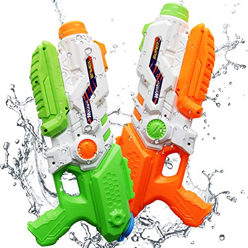 (ToyerBee Water Guns for Kids, 2pack Squirt Guns with 41 Fluid Ounces High Capacity & 8M Shooting Range, Water Toys for Kid&Adult)