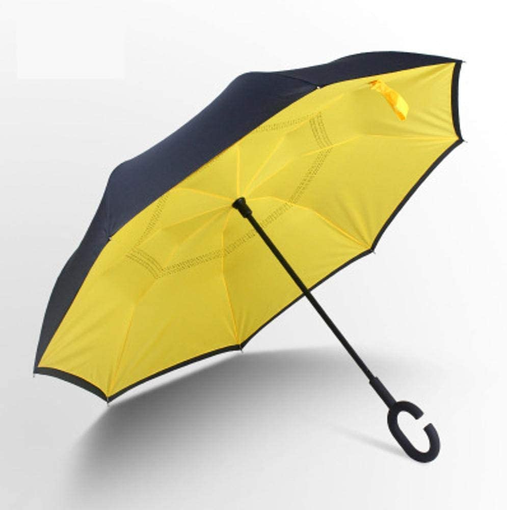 TtKj Folding Umbrella Double-Sided Reverse Umbrella C-Type Free Standing Sun Umbrella 81107cm