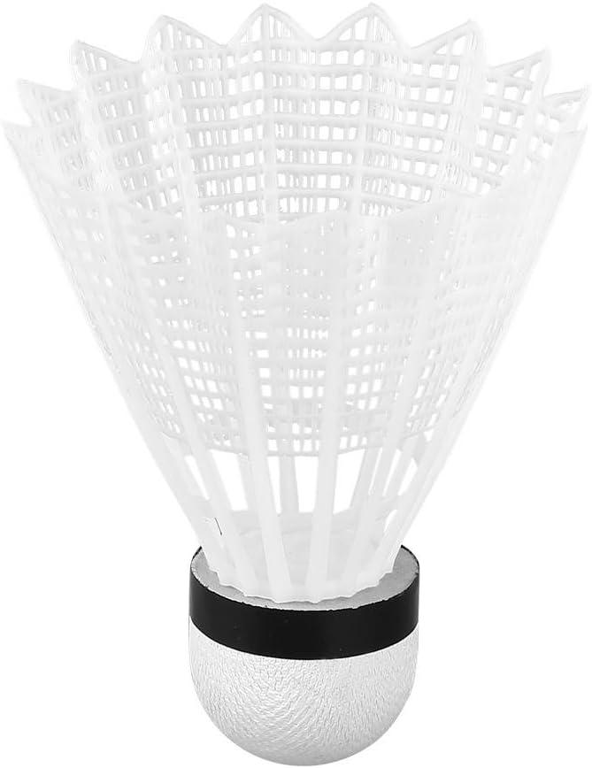 ANGGREK 6Pcs White Badminton Balls Shuttlecocks Accesorio de Entrenamiento de Pelota para Deportes al Aire Libre