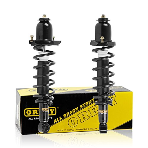 OREDY Rear Pair Complete Quick Struts Shock Coil Spring Assembly Kit for 2003-2008 Toyota Corolla Matrix Pontiac Vibe
