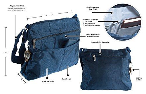 1905 Handbag Multi Classic Travel Everyday Navy Shoulder Pocket Suvelle Crossbody Lightweight Bag nvzqOHY4w