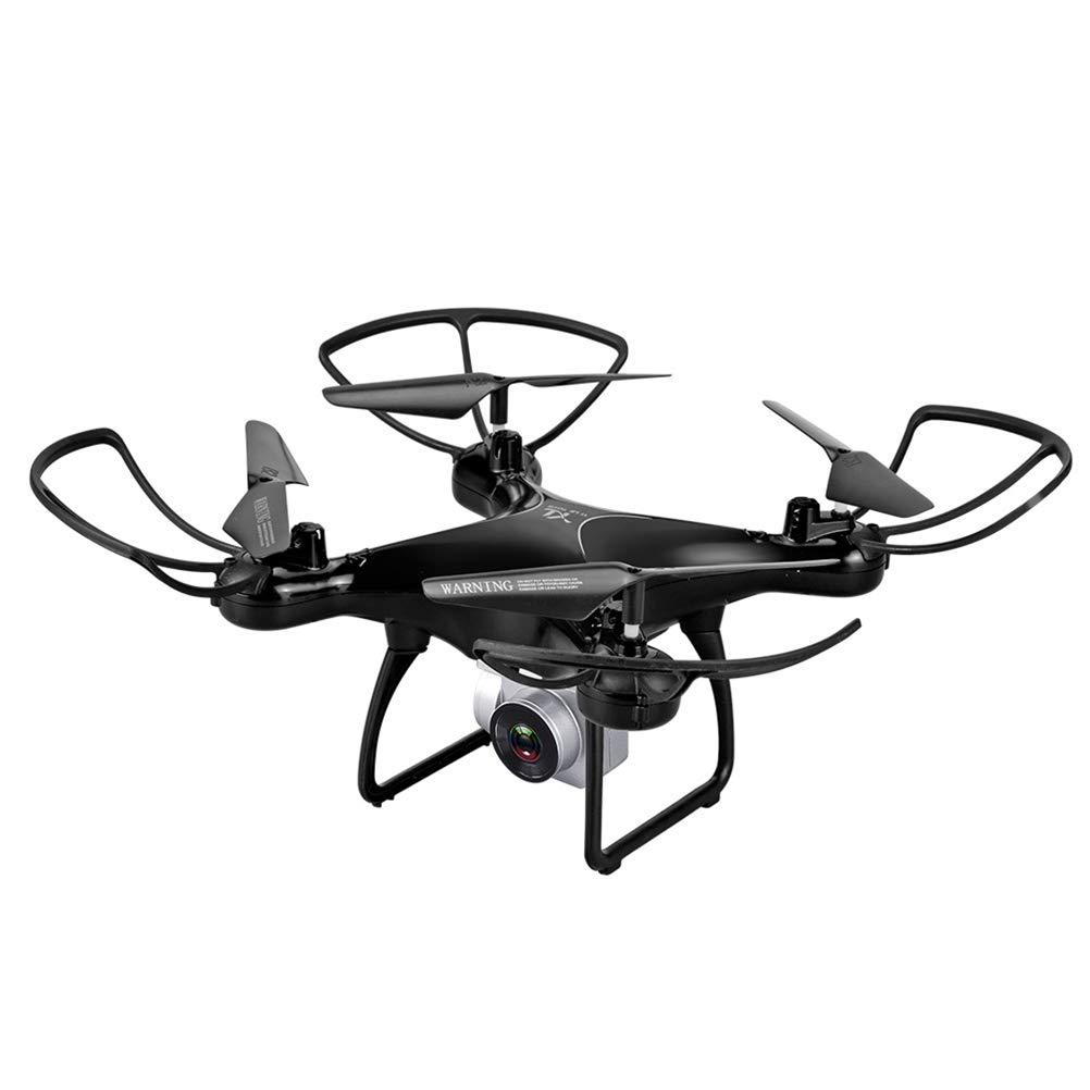 JEFFZH Drone WiFi con Telecamera 1080P HD Altitudine Attesa, Allarme di Bassa Pressione e Segnale Debole Dotato di Valigetta, Alza la Pressione dell'Aria, Un Pulsante di decollo e atterraggio,Nero