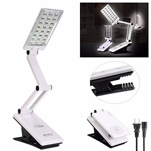 24 LED Foldable 360 Rotatable Rechargable Reading Desk Table Clip-on - Outlet Shopping Oxford