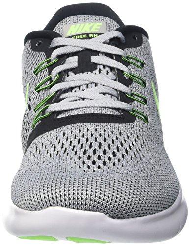 Nike Mens Free Rn Pure Platinum/Elctrc Grn/Anthracite Running Shoe 8 Men US by Nike (Image #4)