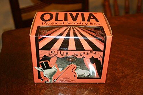 Olivia Circus Dancing Ballerina Pig Musical Jewelry Box