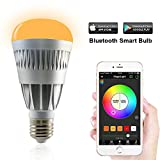 MagicLight® Pro - Bluetooth Smart LED Light Bulb - Smartphone Controlled Dimmable Multicolored Color Changing Lights - Works with iPhone, iPad, Android Phone and Tablet