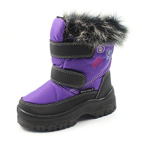 Storm Kidz Cold Weather Snow Boot 1316 Purple Size 7